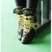 Bota Cano Curto Missfitline Dourada Treino Academia Fitness