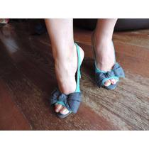 Sandália Laço Jeans Tam 38 - Maravilhosa!!!