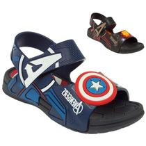 Sandália Avengers Capitão América Homem De Ferro 21402