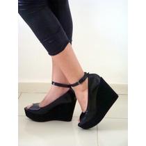Sapato Boneca Lolita Plataforma Anabela N°39