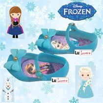 Sapatilha Presente Personagem Frozen Com Squeeze Roxa Azul