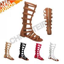 Sandálias Gladiadoras Alta C/ Ziper - Chiquiteira Outlet