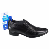 Sapato Masculino Social Pegada Aumenta Altura Couro Legítimo