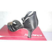 Sandália Com Tiras E Strass Sò Dança