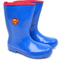 Galocha Infantil Superman Azul Sete Léguas