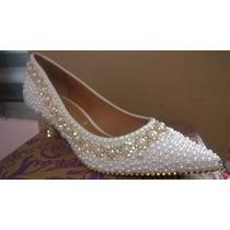 Sapato Pérola-strass Noiva/festa/debutante Personalizado