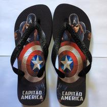 Chinelo Havaianas Personalizado - Capitão America