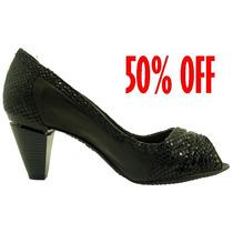 50%off Sapato Peep Toe Dakota Conforto C/amortecedor B1655