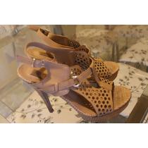 Sandália Plataforma Meia Pata Spot Shoes Núm 38