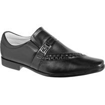 Sapato Masculino Preto De Pelica Forrado Em Couro Legitimo