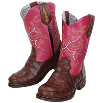 Bota Country Big Bull Escama 910 Pink Feminina - Bs-02049