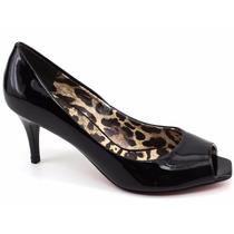 Sapato Peep Toe Verniz Giovana Pash 38111 Pixolé Calçados