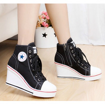 Sapato Salto Alto Plataforma Estilo All Star Frete Gratis