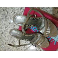 Sandália Via Marte - Strass - Detalhe Em Oncinha - N° 36