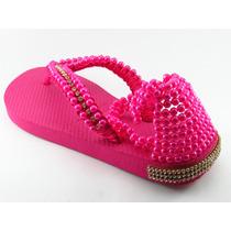 Havaianas Original Personalizadas Bordada. Sandálias Perolas