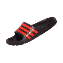 Chinelo Adidas Duramo Slide Preto/vermelho