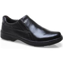Sapato Social Liso Pegada Masculino 100% Couro - 21206 Preto