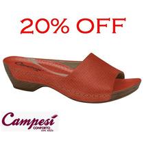 20%off Tamanco Campesí (dakota) Conforto Couro L5155