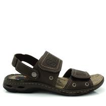 Sandália Masculina Pegada Couro Olfer Calçados