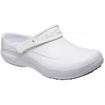 Sapato Crocs Soft Work Branco Com C.a