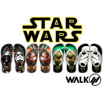 Chinelos Star Wars - Darth Vader - Yoda - Luke - Clone