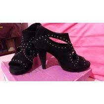 Sapato Feminino De Couro Via Marte (ankle Boot)