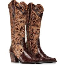 Bota Texana Feminina Couro Anaconda Capelli Boots Ref. 3104