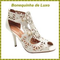 Sandalia Sapato Feminino Vizzano Branco Off Frete Gratis