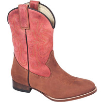 Bota Country Feminina Texana Lady Silver Couro Crazy Horse H