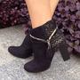 Bota Em Couro Tanara N6861 Super Promoção- Galluzzi Calçados