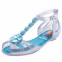 Sandália Infantil Disney Princesas Frozen Com Brinde 21296