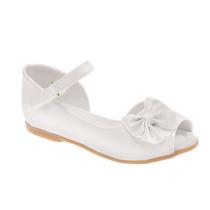 Sapato Peep Toe Branco Verniz Pimpolho 30384c