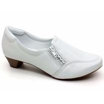 Sapato Branco Feminino Em Couro Neftali 3102 Pixolé Calçados