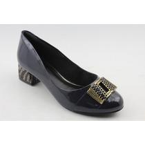 Sapato Feminino Ramarim Salto Baixo Quadrado 583918
