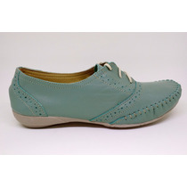 Sapato Feminino Oxford Confort - Couro - Frete Grátis
