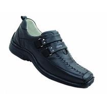 Sapato Masculino 404 Alcalay Relax Couro Legit Ante Stress