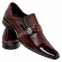 Sapato Social Masculino Verniz Lançamento 100%couro Legítimo