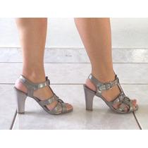 Sandália Salto Alto Com Fivelas Tam 35 Roupas Sapatos