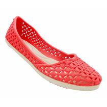 Sapatos Calcado Sandália Sapatilha Tipo Melissa Vermelha