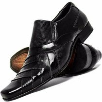 Sapato Social Couro Preto Stilo Italiano Confortável Preço