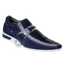 Sapato Social Masculino Esporte Fino - Azul - Ref.:5124p