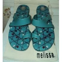 Melissa Rasteira Yarn Azul Piscina N.36