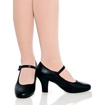 Sapato Para Dança De Salão Em Couro Modelo Boneca Capezio