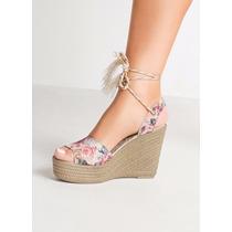 Sandalia Plataforma Floral Barata - Lojas Bec