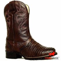 Bota Botina Cowboy Masculina Couro Legítimo Franca Sp Qualit