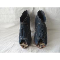 Boot Sapato Via Uno Couro Camurça. N.35