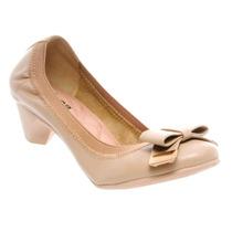 Sapato Moleca Salto Baixo Elástico Laço Confortável 5029.720