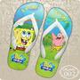 Sandálias Chinelos Havaianas Personalizadas Bob Esponja