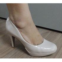 Sapato Scarpin Vizzano Verniz Salto 9,0 Cm - 1200101 Nude