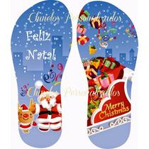 Kit 20 Chinelos Sandálias Personalizados Feliz Natal